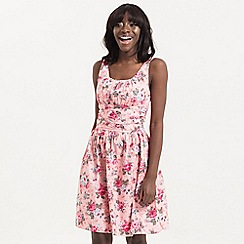 Voodoo Vixen - Pink Ethal Pink Floral Summer Dress