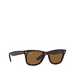 Ray-Ban - Brown 'Wayfarer' RB2140 square sunglasses