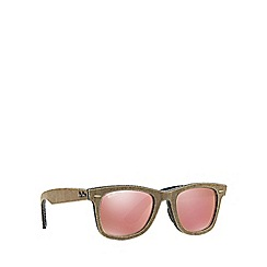 Ray-Ban - Brown 'Wayfarer' RB2140 square sunglasses