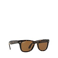 Ray-Ban - Brown 'Folding Wayfarer' RB4105 square sunglasses