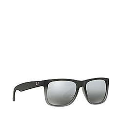 Ray-Ban - Rubber grey 'Justin' rectangle RB4165 sunglasses