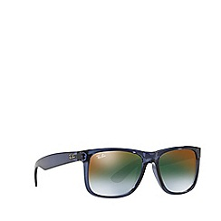 Ray-Ban - Blue 'Justin' rectangle sunglasses