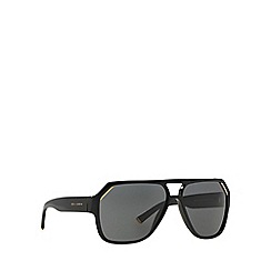 Dolce & Gabbana - Black DG4138 irregular sunglasses