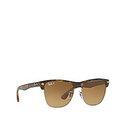Ray-Ban - Brown CLUBMASTER OVERSIZED RB4175 square sunglasses