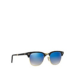 Ray-Ban - Black 'Clubmaster Folding' RB2176 square sunglasses