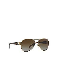 Ralph Lauren - Gold RL7047Q pilot sunglasses