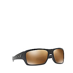 Oakley - Matte black 'Turbine' rectangle OO9263 sunglasses