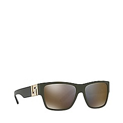 Versace - Green square male sunglasses
