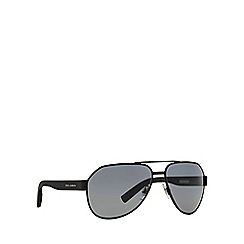 Dolce & Gabbana - Black DG2149 aviator sunglasses