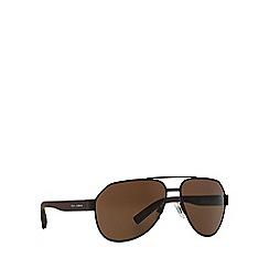 Dolce & Gabbana - Brown DG2149 aviator sunglasses