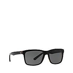 Polo Ralph Lauren - Black PH4098 square sunglasses