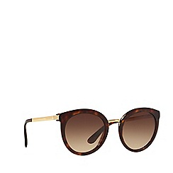 Dolce & Gabbana - Brown DG4268 round sunglasses