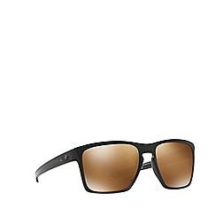 Oakley - Matte black 'Sliver' rectangle OO9341 sunglasses