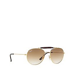 Ray-Ban - Gold round RB3540 sunglasses