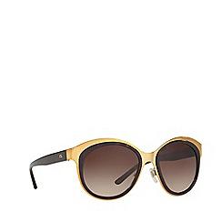 Ralph Lauren - Shiny gold RL7051 irregular sunglasses