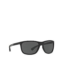 Emporio Armani - Black rubber EA4078 rectangle sunglasses