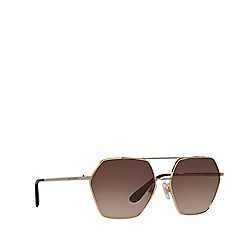 Dolce & Gabbana - Gold DG2157 irregular sunglasses