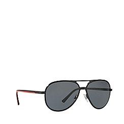 Polo Ralph Lauren - Shiny black PH3102 pilot sunglasses