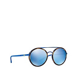 Polo Ralph Lauren - Matte blue PH3103 round sunglasses