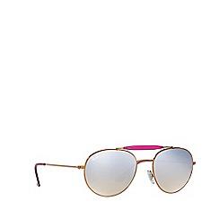 Ray-Ban - Shiny bronze round RB3540 sunglasses