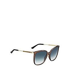 Gucci - Brown GG3845 rectangle sunglasses