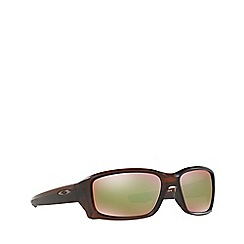 Oakley - Matte brown 'Straightlink' OO9331 rectangle sunglasses