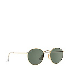 Ray-Ban - Gold 'Round metal' RB3447 sunglasses