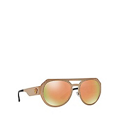 Versace - Bronze VE2175 round sunglasses