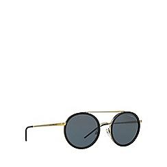 Emporio Armani - Matte black round frame grey lense sunglasses