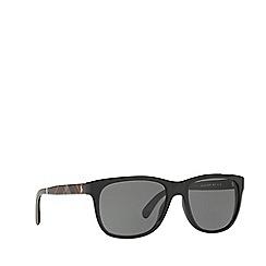 Polo Ralph Lauren - Shiny black square frame sunglasses