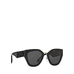 Prada - Black PR10TS irregular sunglasses