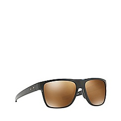Oakley - Matte black 'Crossrange' square OO9360 sunglasses