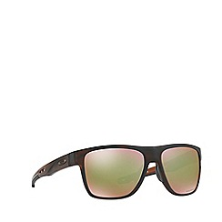 Oakley - Matte brown 'Crossrange' OO9360 square sunglasses