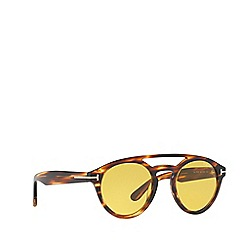 Tom Ford - Brown FT0537 round sunglasses