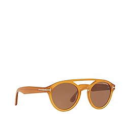 Tom Ford - Yellow FT0537 round sunglasses