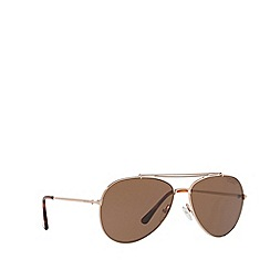 Tom Ford - Pink gold FT0497 pilot sunglasses