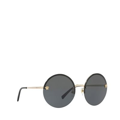 5ab8998a4d92b Versace Pale gold VE2176 round sunglasses