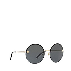 Versace - Pale gold VE2176 round sunglasses