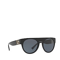 Versace - Black VE4333 round sunglasses