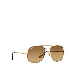 Ray-Ban - Shiny gold square RB3561 sunglasses