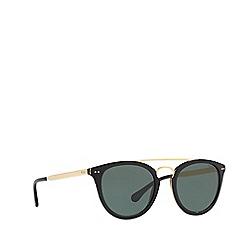 Polo Ralph Lauren - Shiny black PH4121 round sunglasses