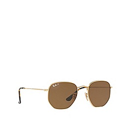 Ray-Ban - Gold square RB3548N sunglasses