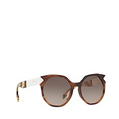 Prada - Dark brown PR 11TS irregular sunglasses