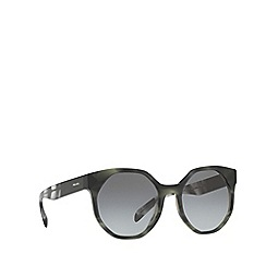 Prada - Grey PR 11TS irregular sunglasses