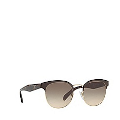 Prada - Brown PR 61TS round sunglasses