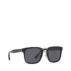 Prada - Black PR 14TS rectangle sunglasses