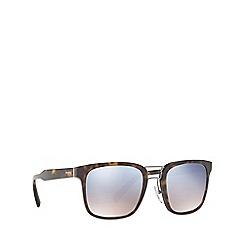 Prada - Havana PR 14TS rectangle sunglasses