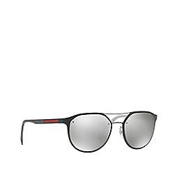 Prada Linea Rossa - Dark grey PS 55SS irregular sunglasses