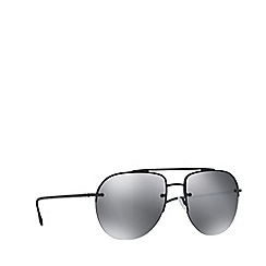 Prada Linea Rossa - Black rubber PS 53SS pilot sunglasses