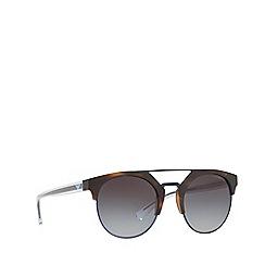 Emporio Armani - Matte havana EA4092 round sunglasses